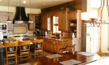 Design of a Kitchen in a Log Home